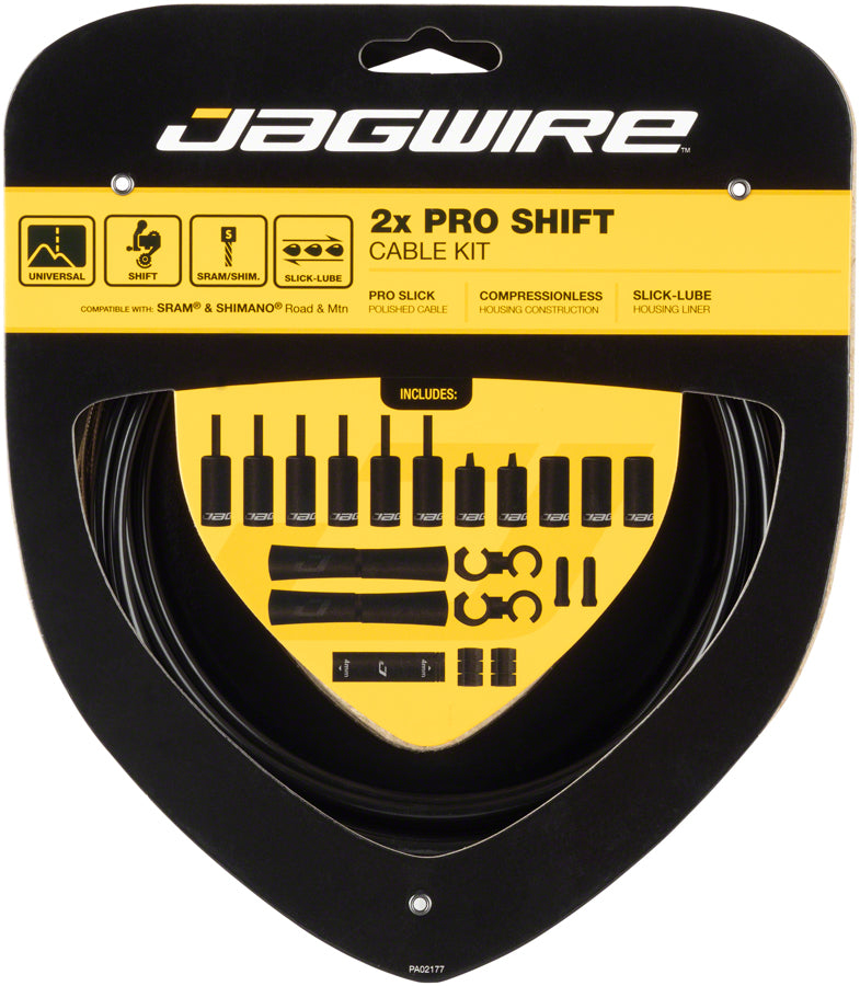Jagwire Pro Shift Kit Road/Mountain SRAM/Shimano, Black MPN: PCK500 Derailleur Cable & Housing Set Pro Shift Kit