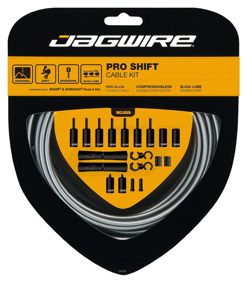 Jagwire Pro Shift Kit Road/Mountain SRAM/Shimano, Ice Gray MPN: PCK501 Derailleur Cable & Housing Set Pro Shift Kit