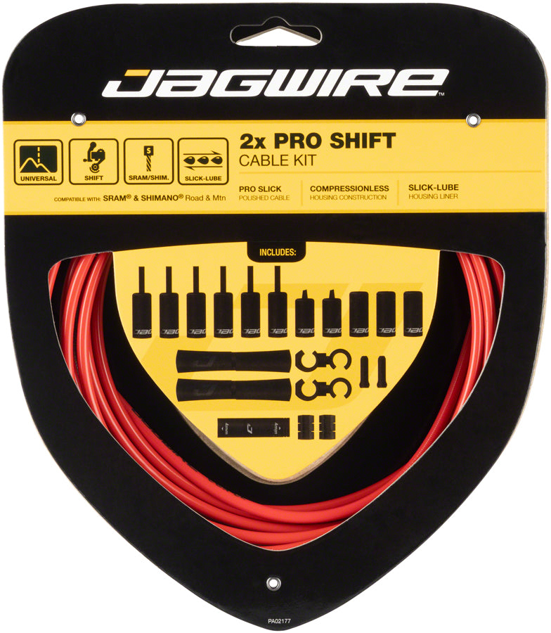 Jagwire Pro Shift Kit Road/Mountain SRAM/Shimano, Red MPN: PCK504 Derailleur Cable & Housing Set Pro Shift Kit