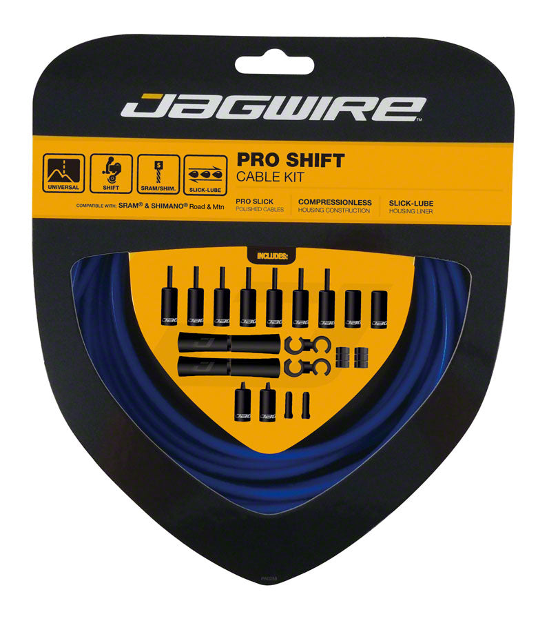 Jagwire Pro Shift Kit Road/Mountain SRAM/Shimano, SID Blue
