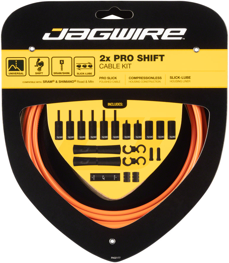 Jagwire Pro Shift Kit Road/Mountain SRAM/Shimano, Orange MPN: PCK506 Derailleur Cable & Housing Set Pro Shift Kit