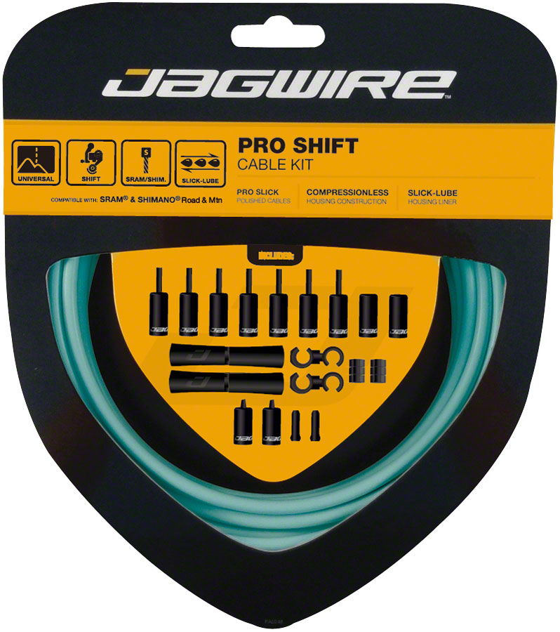 Jagwire Pro Shift Kit Road/Mountain SRAM/Shimano, Celeste