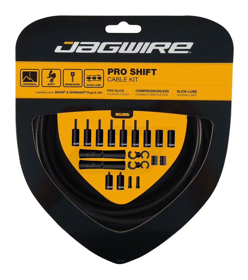 Jagwire Pro Shift Kit Road/Mountain SRAM/Shimano, Stealth Black