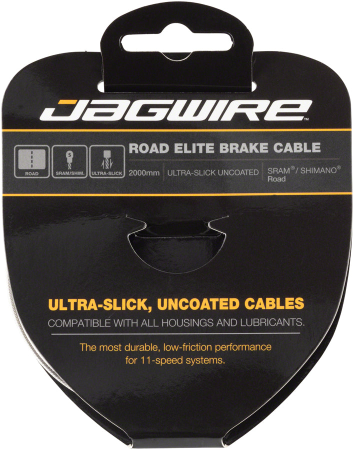 Jagwire Elite Ultra-Slick Brake Cable 1.5x2000mm Polished Slick Stainless SRAM/Shimano Road