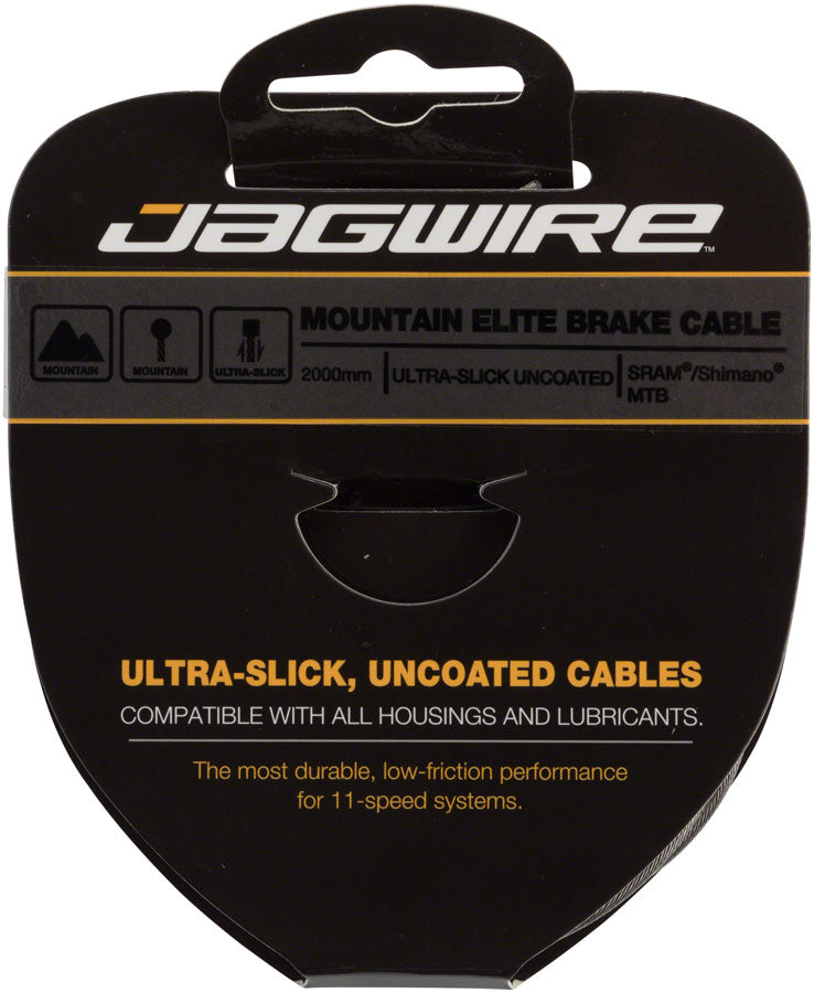 Jagwire Elite Ultra-Slick Brake Cable 1.5x2000mm Polished Slick Stainless SRAM/Shimano MTB - Brake Cable - Elite Ultra-Slick Brake Cable