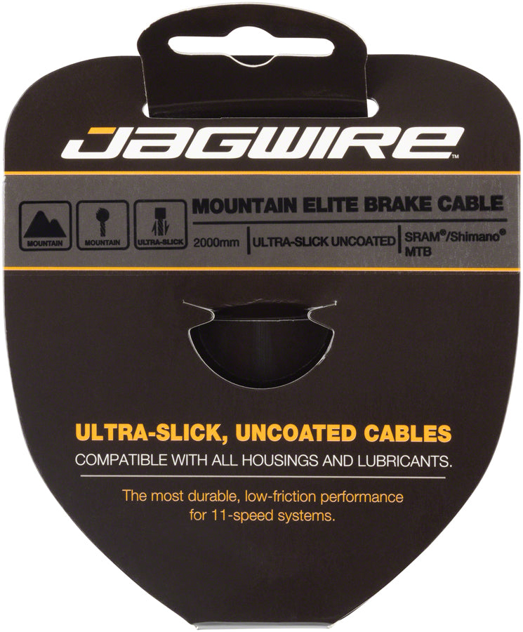 Jagwire Elite Ultra-Slick Brake Cable 1.5x2000mm Polished Slick Stainless SRAM/Shimano MTB MPN: 94EL2000 Brake Cable Elite Ultra-Slick Brake Cable