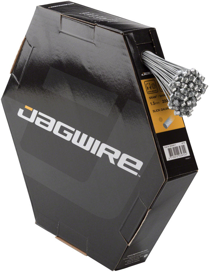 Jagwire Sport Brake Cable 1.5x2000mm Slick Galvanized SRAM/Shimano MTB, Box of 100