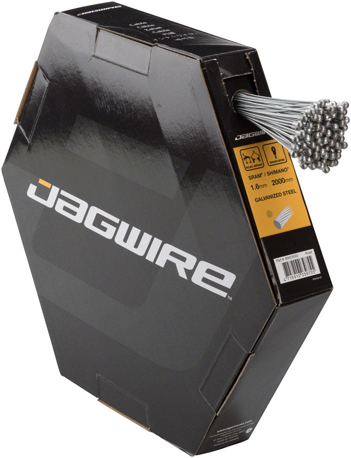 Jagwire Brake Cable Basics 1.6x2000mm Galvanized SRAM/Shimano Road, Box of 100 MPN: BWC5003 Brake Cable Basics Filebox