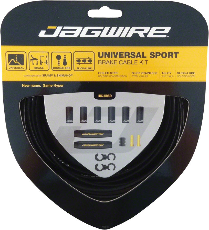 Jagwire Universal Sport Brake Cable Kit, Black MPN: UCK400 Brake Cable & Housing Set Universal Sport Brake Kit