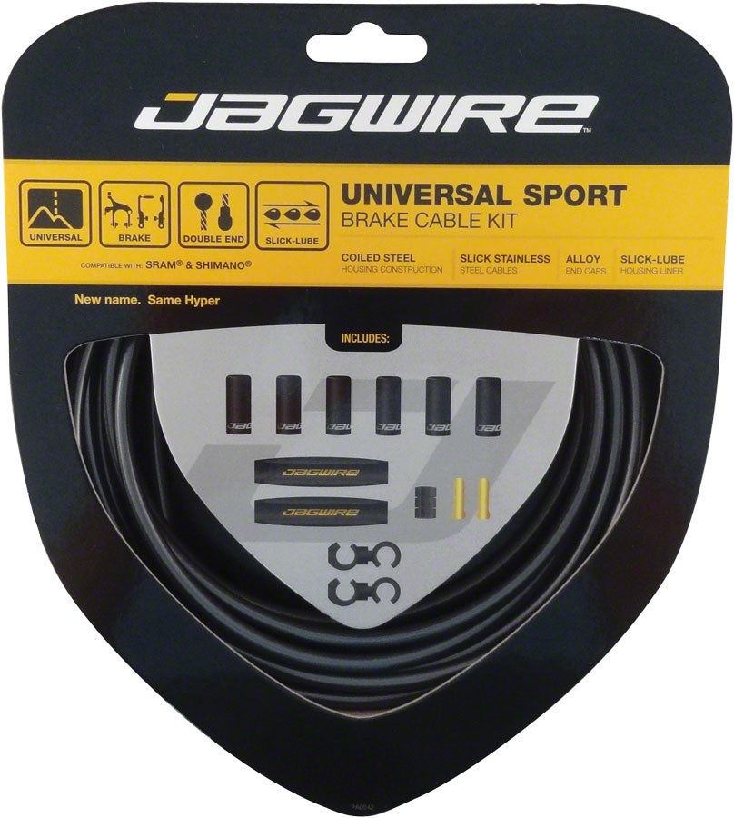Jagwire Universal Sport Brake Cable Kit, Ice Gray MPN: UCK410 Brake Cable & Housing Set Universal Sport Brake Kit