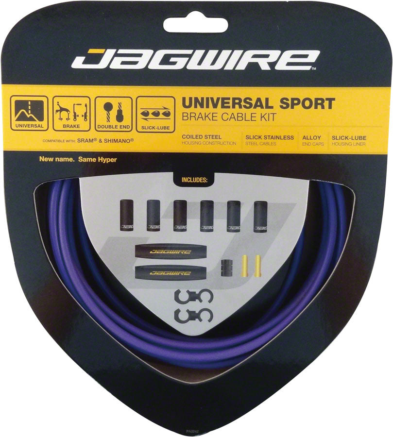 Jagwire Universal Sport Brake Cable Kit, Purple MPN: UCK416 Brake Cable & Housing Set Universal Sport Brake Kit