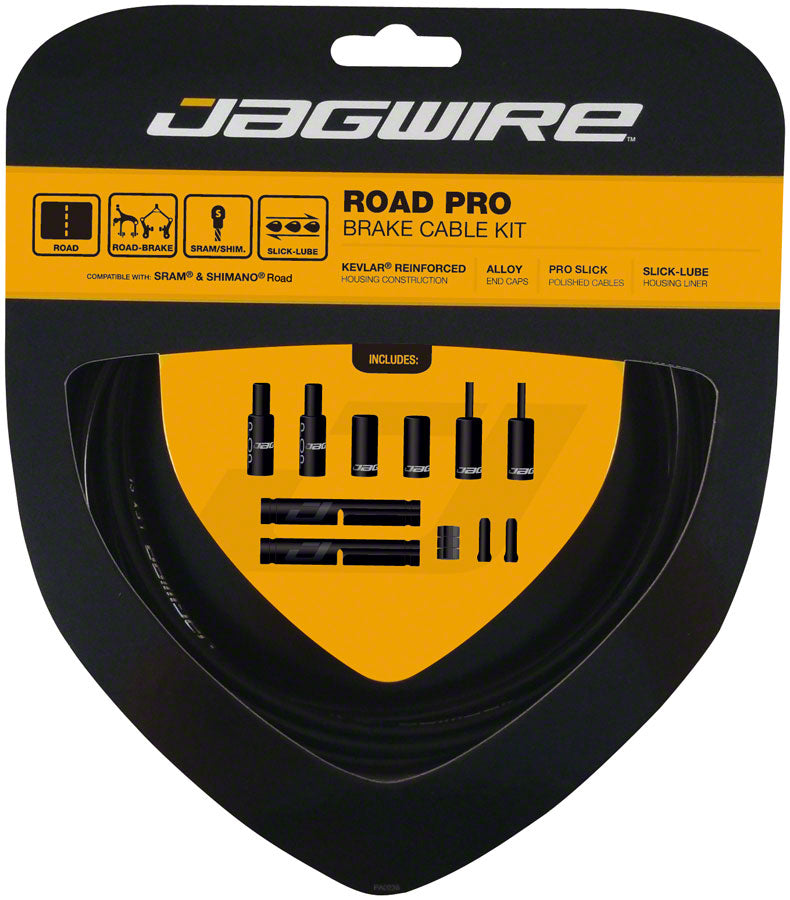 Jagwire Pro Brake Cable Kit Road SRAM/Shimano, Black MPN: PCK200 Brake Cable & Housing Set Pro Polished Road Brake Kit
