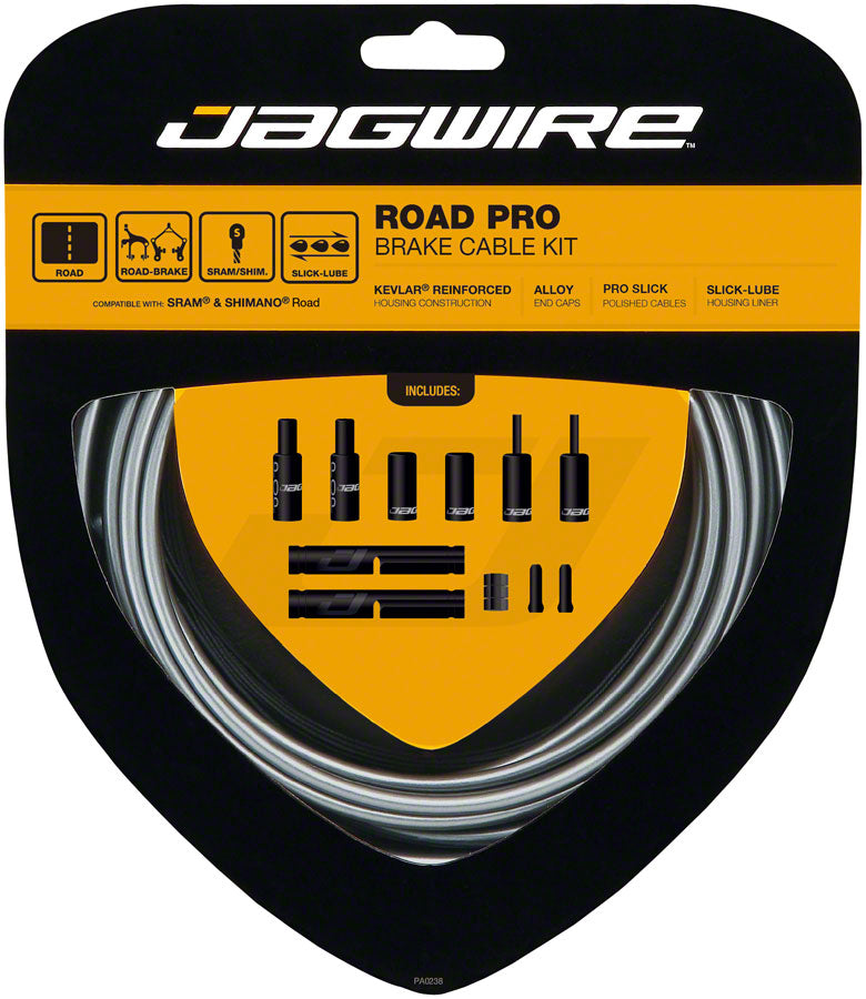Jagwire Pro Brake Cable Kit Road SRAM/Shimano, Ice Gray MPN: PCK201 Brake Cable & Housing Set Pro Polished Road Brake Kit