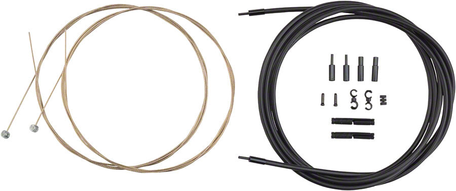 Jagwire Pro Brake Cable Kit Mountain SRAM/Shimano, SID Blue - Brake Cable & Housing Set - Pro Polished Mountain Brake Kit