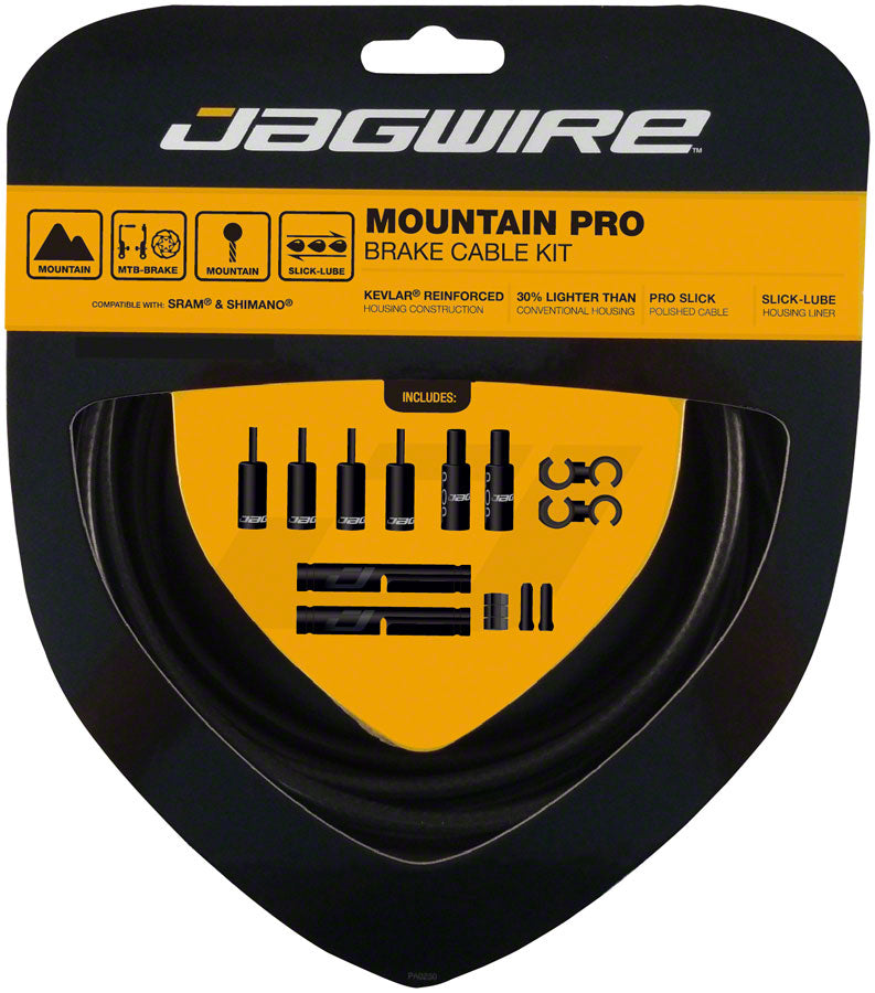 Jagwire Pro Brake Cable Kit Mountain SRAM/Shimano, Stealth Black MPN: PCK409 Brake Cable & Housing Set Pro Polished Mountain Brake Kit