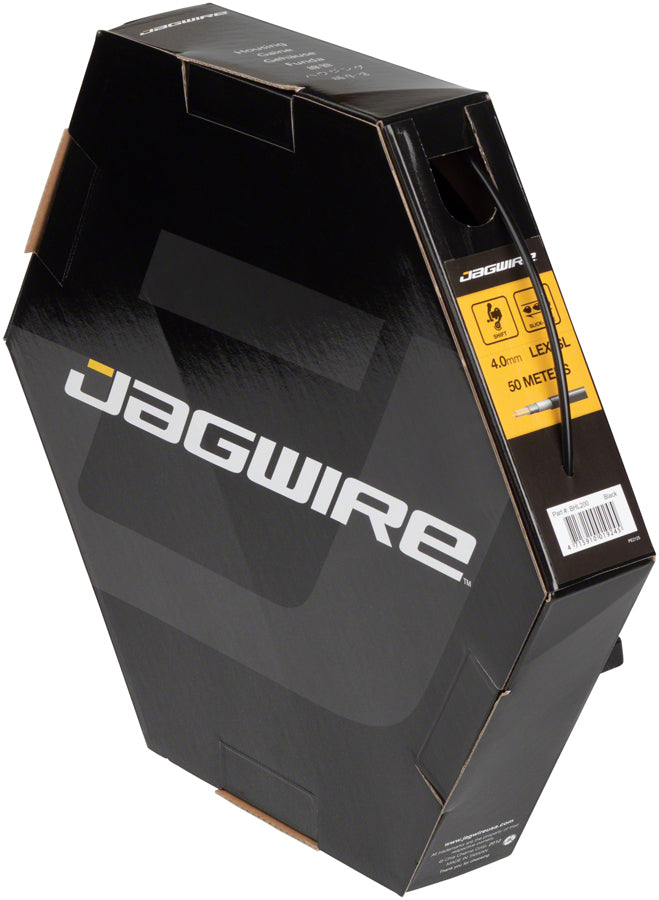 Jagwire 4mm Sport Derailleur Housing with Slick-Lube Liner 50M File Box, Black