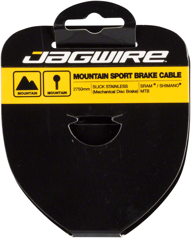 Jagwire Sport Brake Cable Slick Stainless 1.5x2750mm SRAMShimano Mountain Tandem