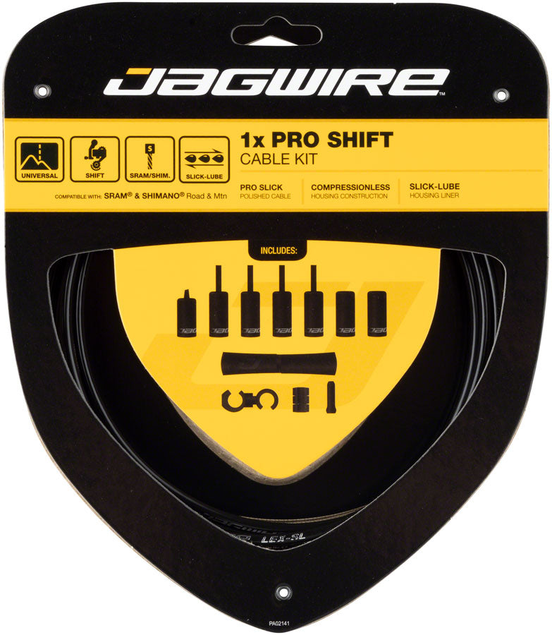 Jagwire 1x Pro Shift Kit Road/Mountain SRAM/Shimano, Black