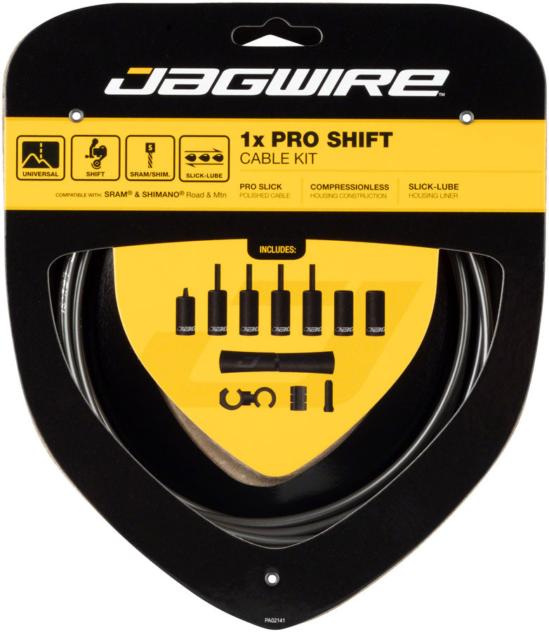 Jagwire 1x Pro Shift Kit Road/Mountain SRAM/Shimano, Ice Gray