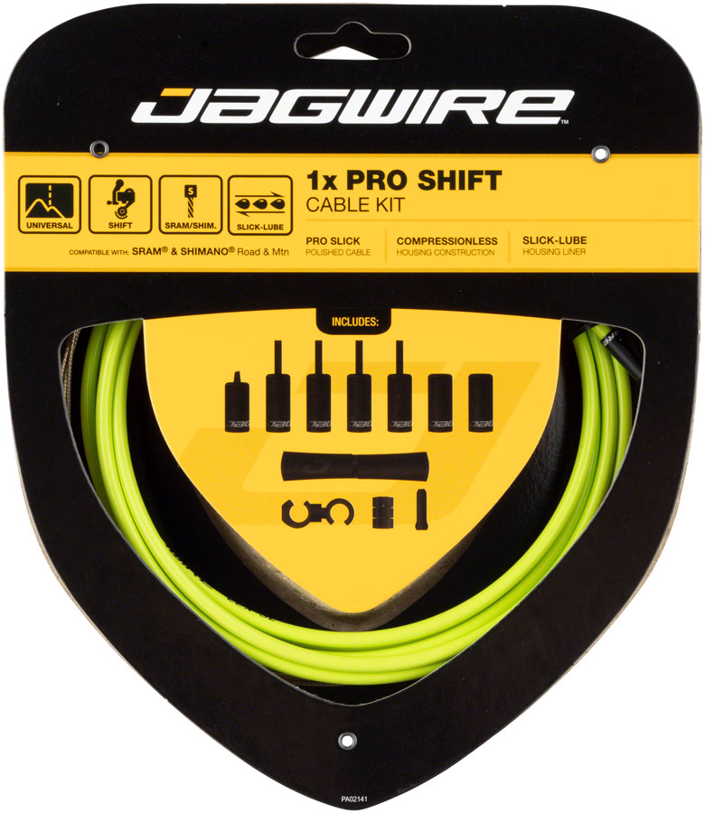 Jagwire 1x Pro Shift Kit Road/Mountain SRAM/Shimano, Organic Green