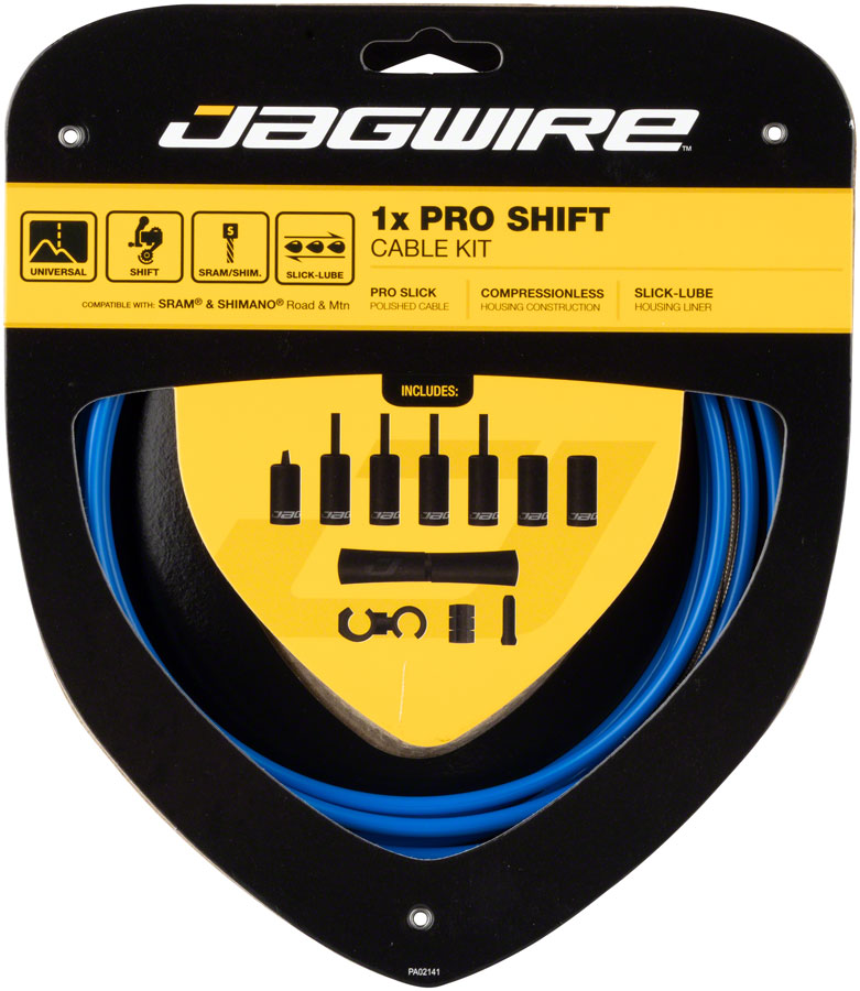 Jagwire 1x Pro Shift Kit Road/Mountain SRAM/Shimano, SID Blue