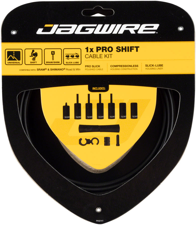 Jagwire 1x Pro Shift Kit Road/Mountain SRAM/Shimano, Stealth Black