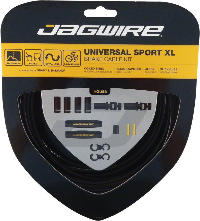 Jagwire Universal Sport Brake XL Kit, Black MPN: UCK800 Brake Cable & Housing Set Universal Sport XL Brake Kit