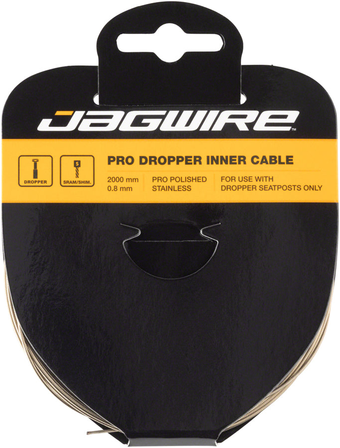 Jagwire Pro Dropper Polished Inner Cable, 0.8mm x 2000mm