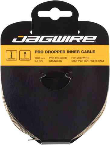 Jagwire Pro Dropper Seat Post Replacement Inner Cable Pro Polished Slick 0.8mm
