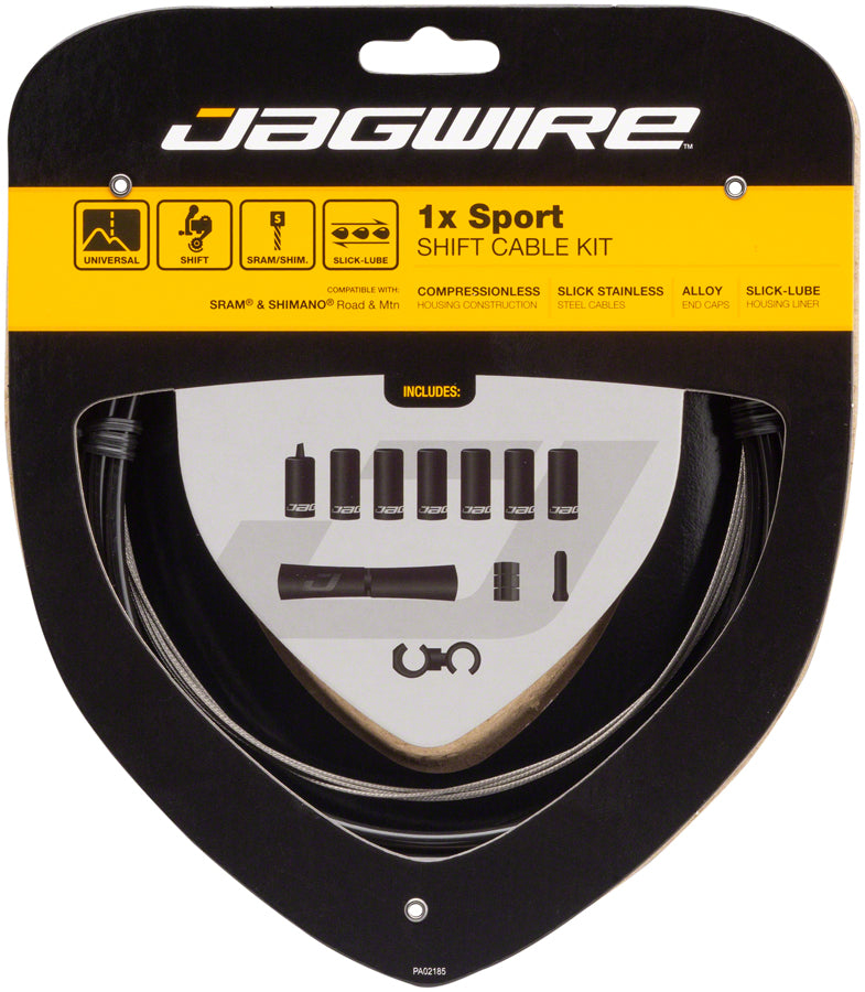 Jagwire 1x Sport Shift Cable Kit SRAM/Shimano, Black