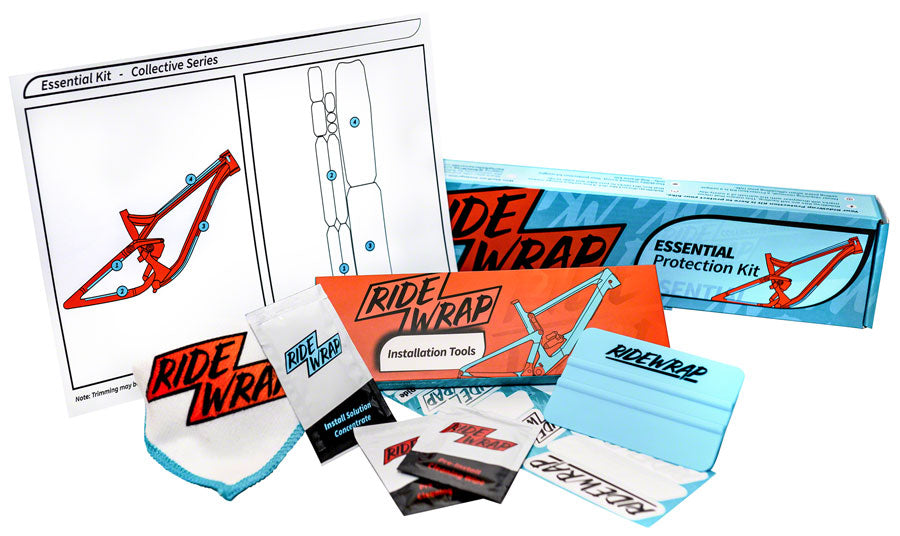RideWrap Essential MTB Frame Protection Kit - Gloss - Chainstay/Frame Protection - Essential MTB Frame Protection Kit