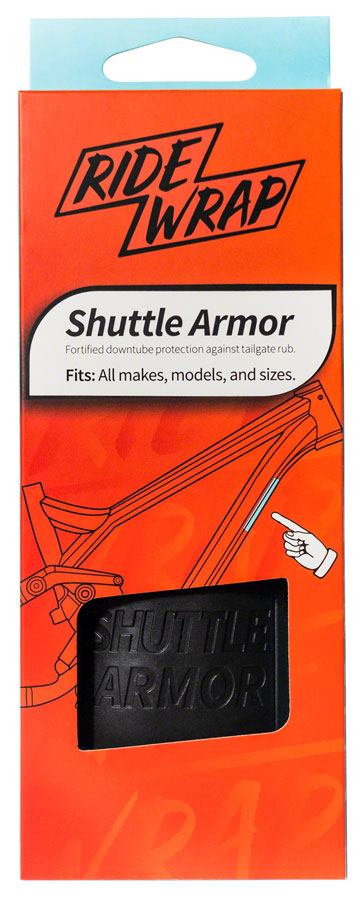 RideWrap Shuttle Armor - Matte Black MPN: RW-PU-RT-MB-917 Chainstay/Frame Protection Shuttle Armor Frame Protection Kit