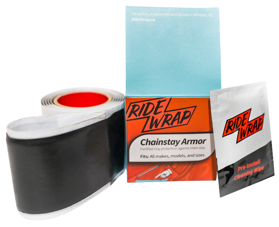 RideWrap Chainstay Armor - Matte Black - Chainstay/Frame Protection - Chainstay Armor Kit