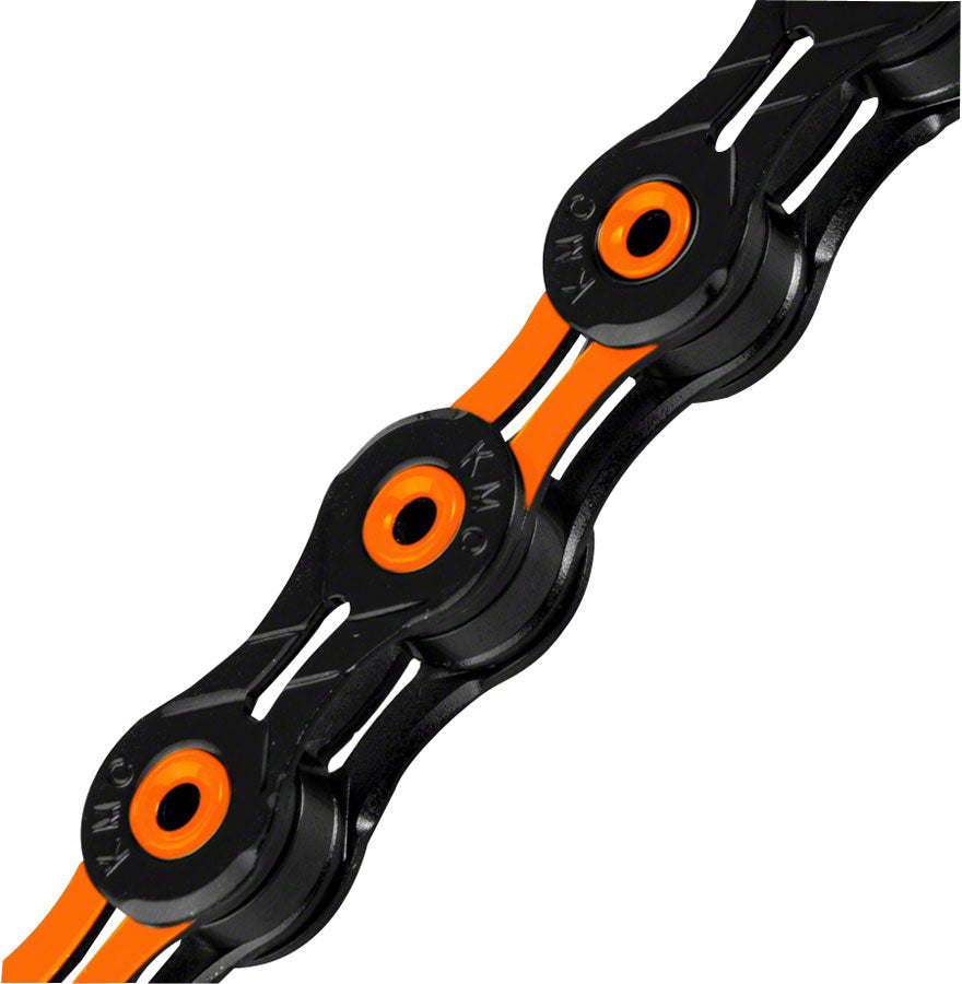 KMC X11SL Super Light Chain - 11-Speed, 116 Links, Black/Orange