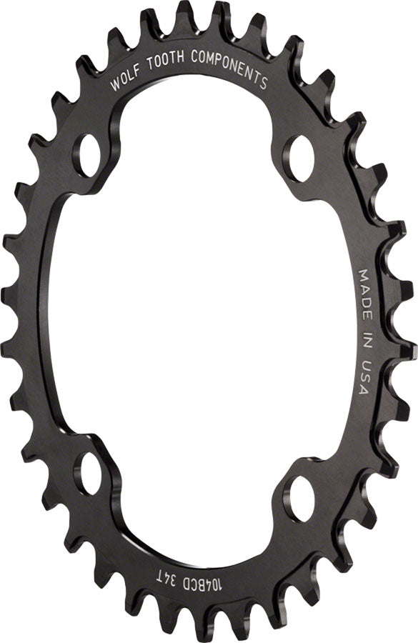 Wolf Tooth Components 38t 104bcd Drop-Stop Chainring, Black