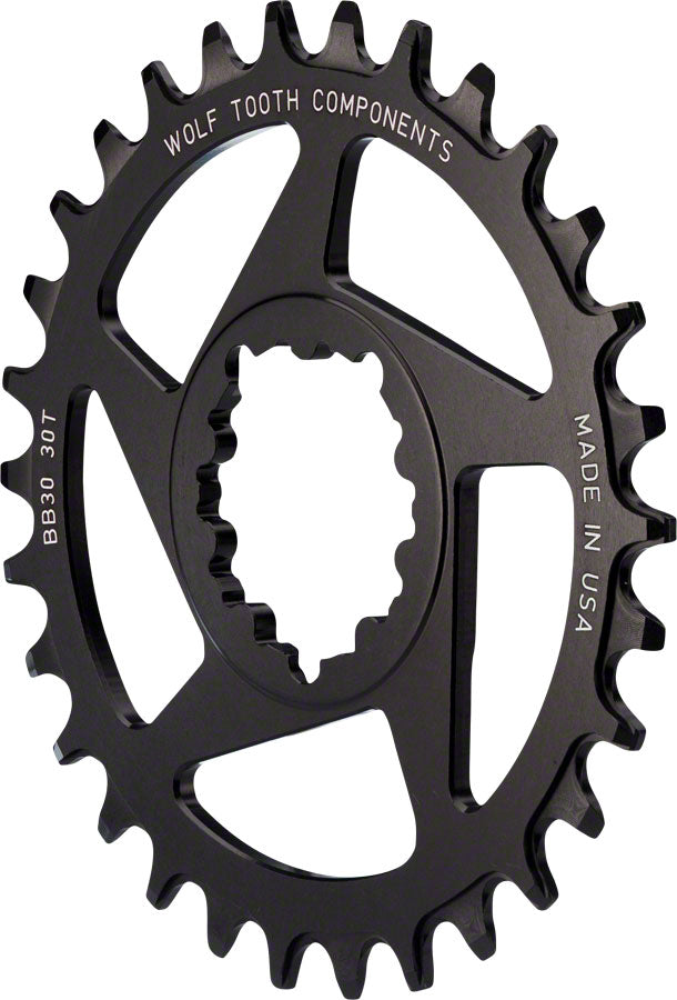 Wolf Tooth Direct Mount Chainring - 32t, SRAM Direct Mount, Drop-Stop, For BB30 Short Spindle Cranksets, 0mm Offset, - Direct Mount Chainrings - SRAM 3-Bolt Direct Mount Chainrings