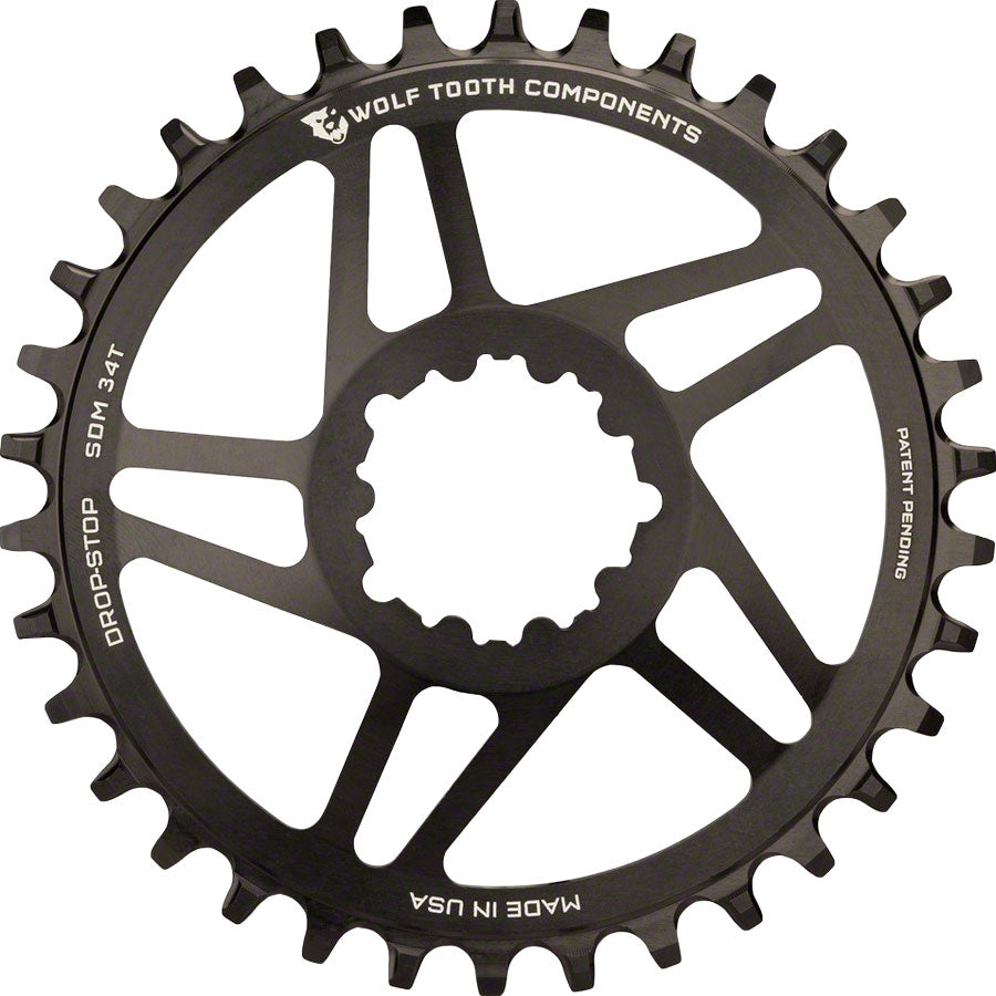 Wolf Tooth Direct Mount Chainring - 36t, SRAM Direct Mount, Drop-Stop, For SRAM 3-Bolt Cranksets, 6mm Offset, Black MPN: ASM5-SDM36 UPC: 812719020732 Direct Mount Chainrings SRAM 3-Bolt Direct Mount Chainrings