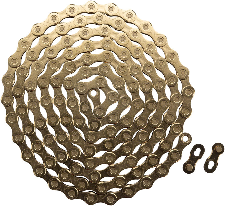 KMC X12 Chain - 12-Speed, 126 Links, Gold - Chain - X12 Chain