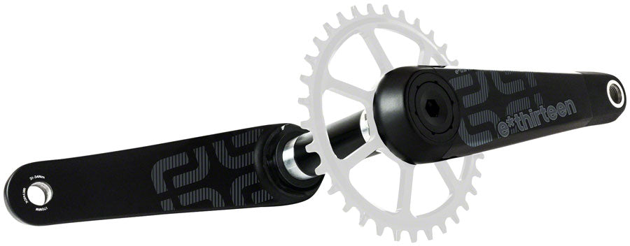 e*thirteen by The Hive TRS Race Carbon Crankset - 175mm, Direct Mount, e*thirteen P3 Connect Spindle Interface, Black