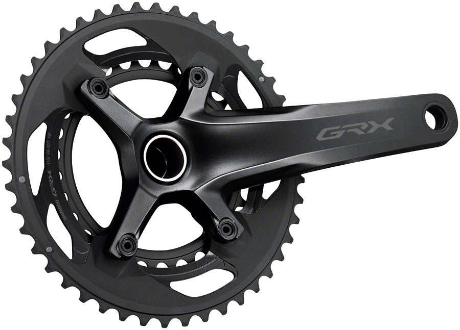 Shimano GRX FC-RX600-10 Crankset - 165mm, 10-Speed, 46/30t, 110/80 BCD, Hollowtech II Spindle Interface, Black