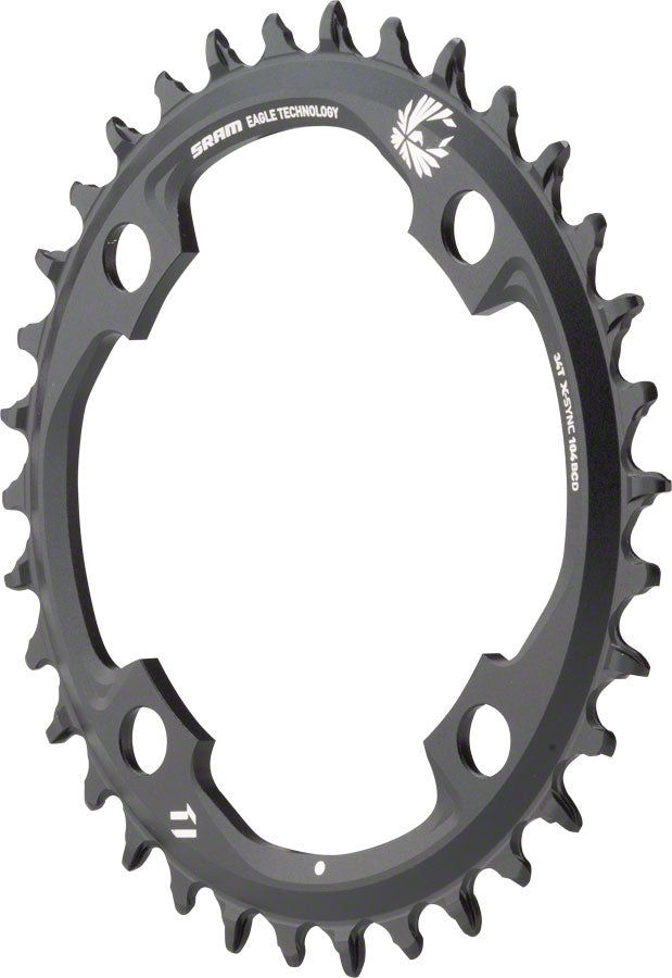 SRAM X-Sync 2 Eagle 11 or 12-Speed Chainring 34T 104mm BCD Black