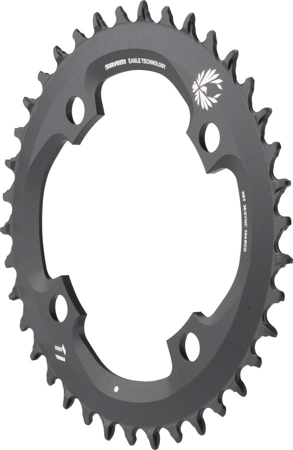 SRAM X-Sync 2 Eagle 11 or 12-Speed Chainring 38T 104mm BCD Black