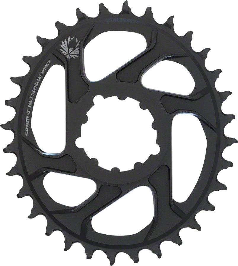 SRAM X-Sync 2 Eagle Oval Direct Mount Chainring 32T 6mm Offset MPN: 11.6218.038.010 UPC: 710845804670 Direct Mount Chainrings X-Sync 2 Eagle Oval Direct Mount Chainring