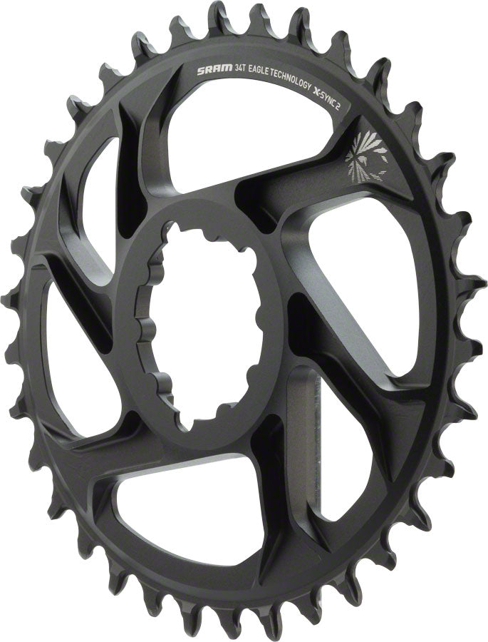 SRAM X-Sync 2 Eagle Oval Direct Mount Chainring 34T 6mm Offset MPN: 11.6218.038.030 UPC: 710845804694 Direct Mount Chainrings X-Sync 2 Eagle Oval Direct Mount Chainring