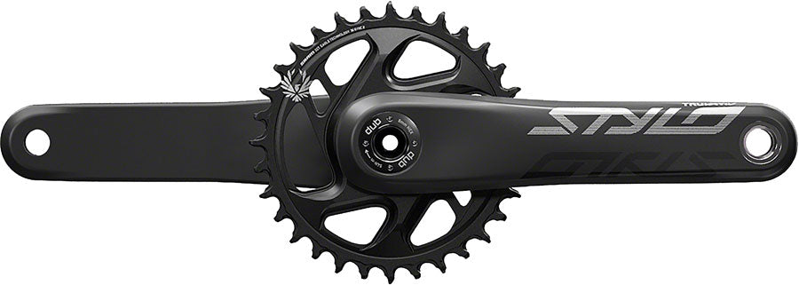 TruVativ STYLO Carbon Eagle Crankset - 170mm, 12-Speed, 32t, Direct Mount, DUB Spindle Interface, Black