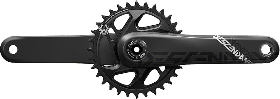 TruVativ Descendant Carbon Eagle Crankset - 170mm, 12-Speed, 32t, Direct Mount, DUB Spindle Interface, Black