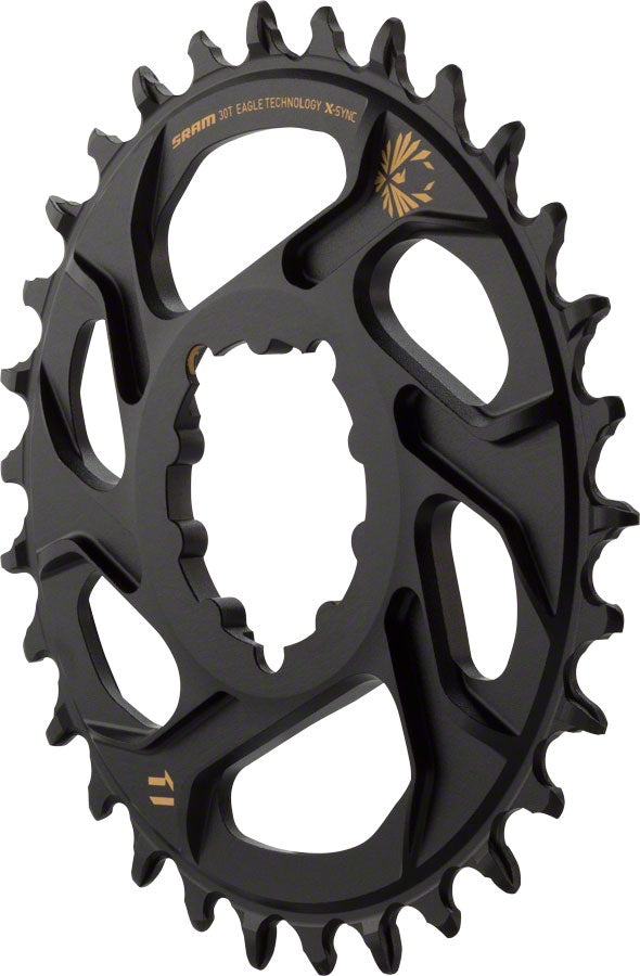 SRAM X-Sync 2 Eagle Chainring 34T DM 3mm Offset Black with Gold Logo BOOST