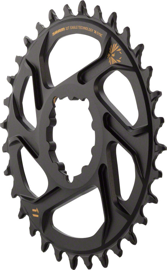 SRAM X-Sync 2 Eagle Direct Mount Chainring 32T Boost 3mm Offset with Gold Logo MPN: 11.6218.030.160 UPC: 710845787584 Direct Mount Chainrings X-Sync 2 Eagle Direct Mount Chainring