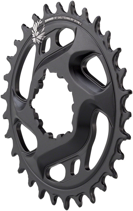 SRAM X-Sync 2 Eagle Cold Forged Direct Mount Chainring 30T 6mm Offset MPN: 11.6218.030.250 UPC: 710845808524 Direct Mount Chainrings X-Sync 2 Eagle Cold Forged Direct Mount Chainring