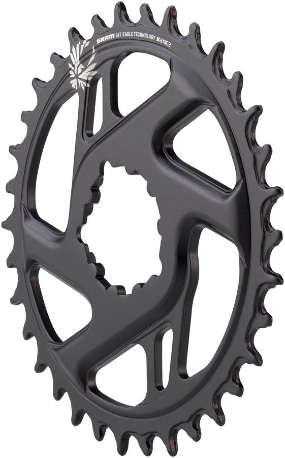 SRAM X-Sync 2 Eagle Cold Forged Direct Mount Chainring 34T Boost 3mm Offset MPN: 11.6218.030.280 UPC: 710845808555 Direct Mount Chainrings X-Sync 2 Eagle Cold Forged Direct Mount Chainring